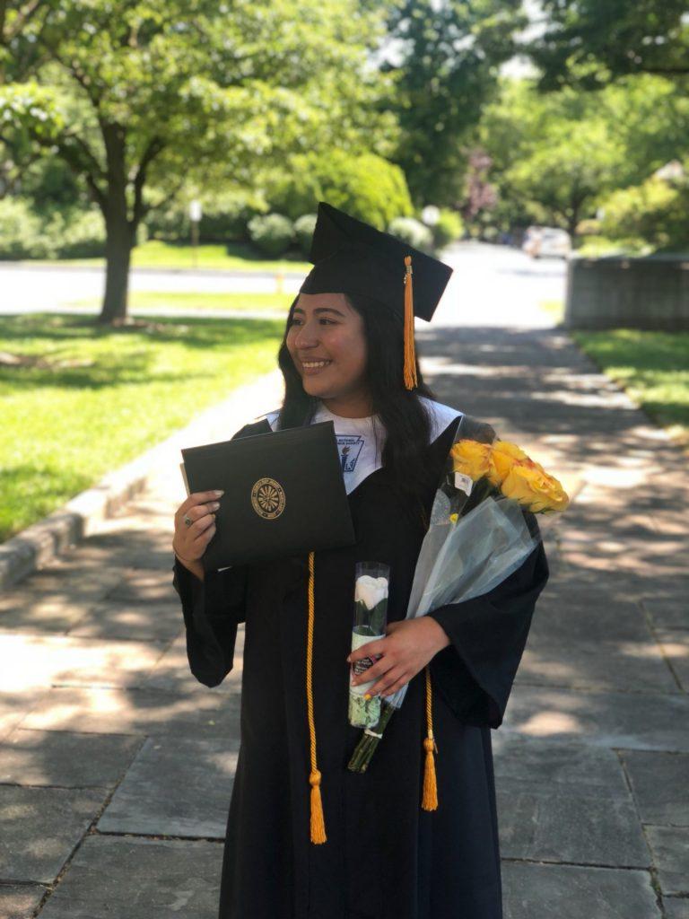 High school graduation photo of CRJ alumna Esthefani Garcia '18